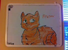 Firepaw Whiteboard Again by Paleodraw