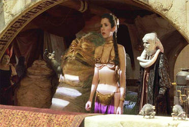 Slave Leia and Jabba at Public Event