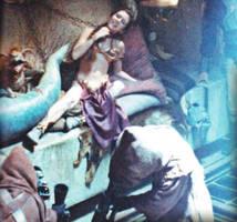 Slave Leia: Jabba pets his slave