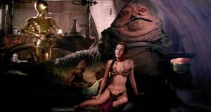 Slave Leia: Jabba Pulls Leia's Chain