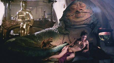 Slave Leia: Leia and Jabba Sleep