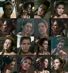 The many faces of our drool-worthy Slave Leia