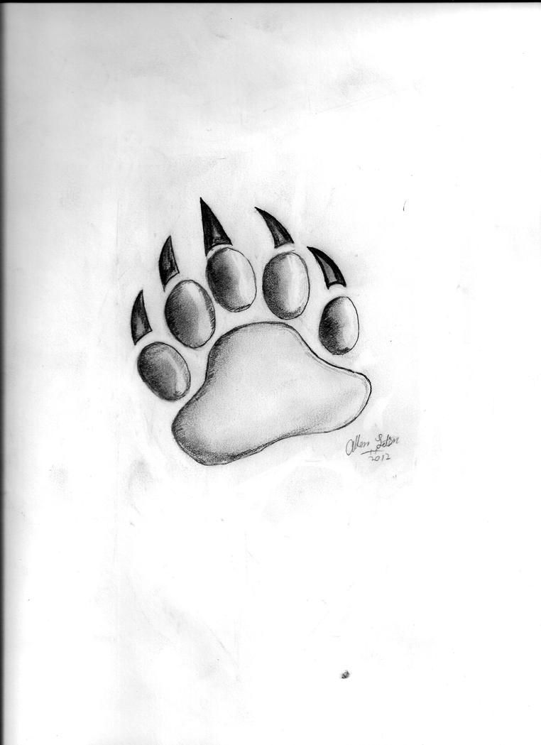 Bear Paw Drawing By Aletsonjr On Deviantart