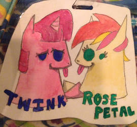 Hooves of Fate - Twink and Rose Petal (xyloart)
