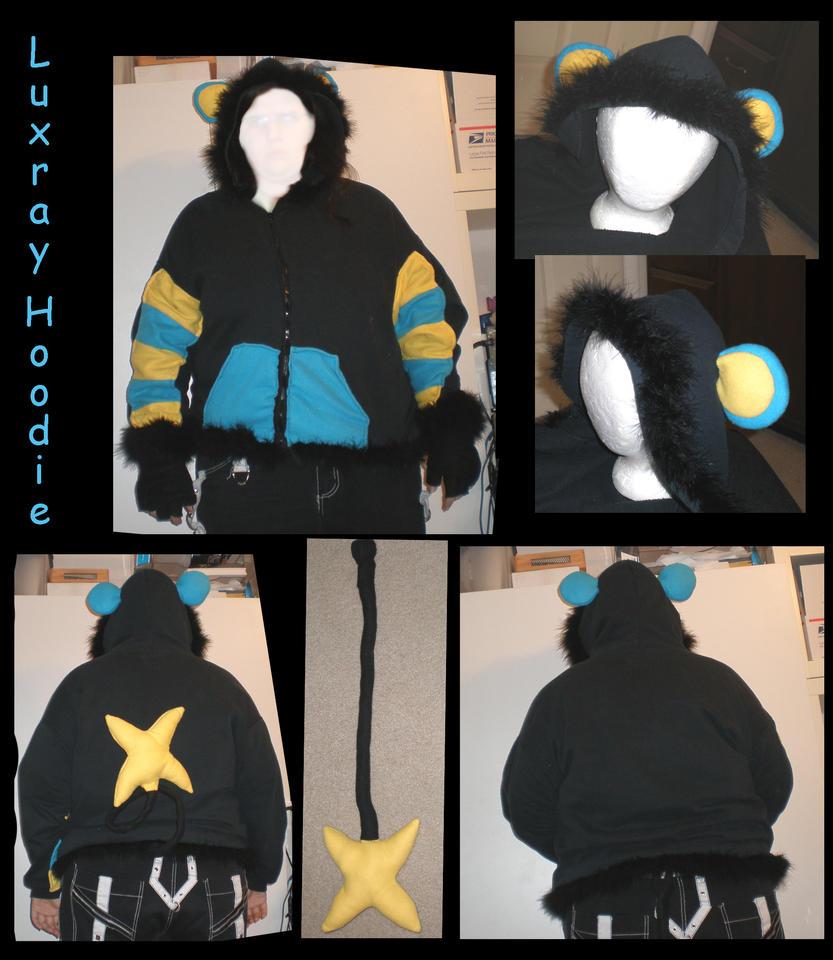 Luxray hoodie by Gijinkacosplay