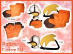 Raichu Custom set