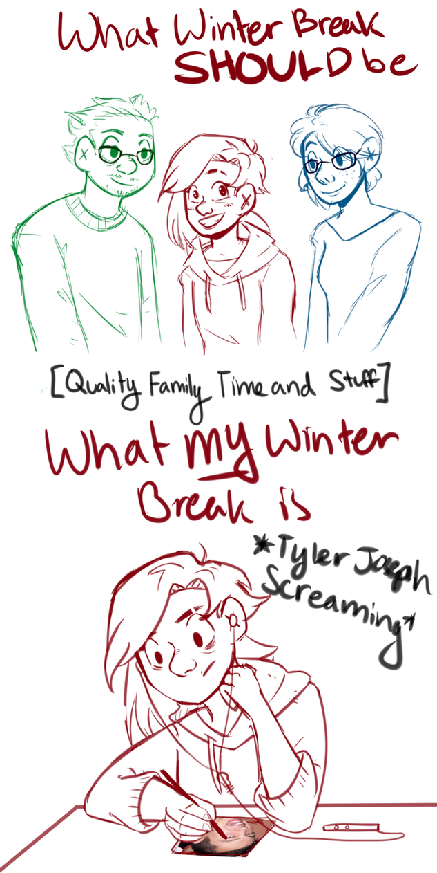 winter break doodles by ettaEverything