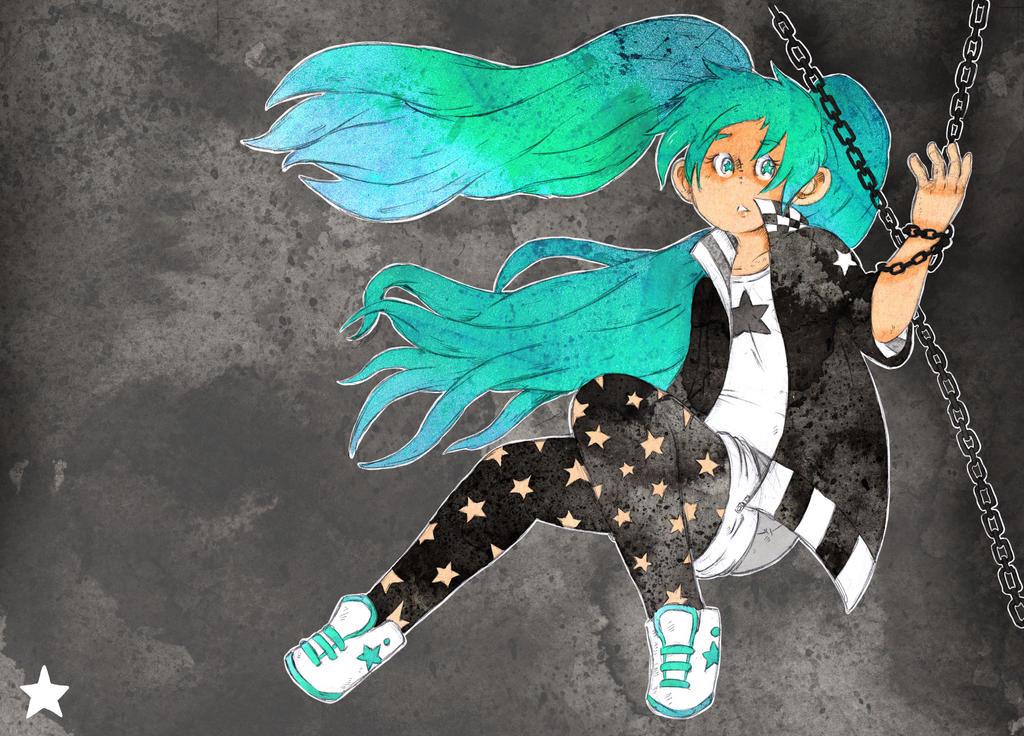 Black Rock Shooter Miku by Todotoro