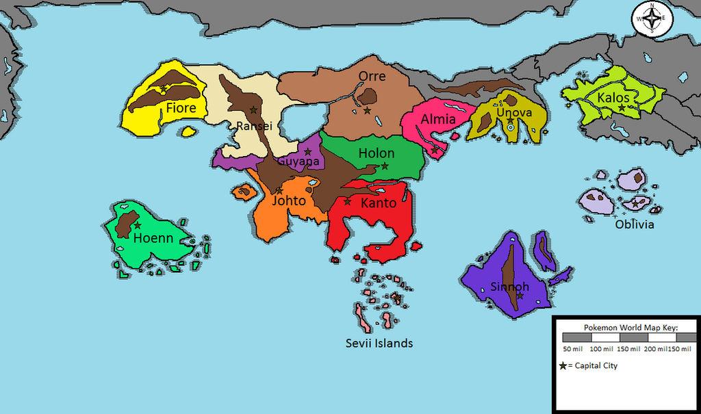 Pokemon World Map (2.0) by Chash1234 on DeviantArt