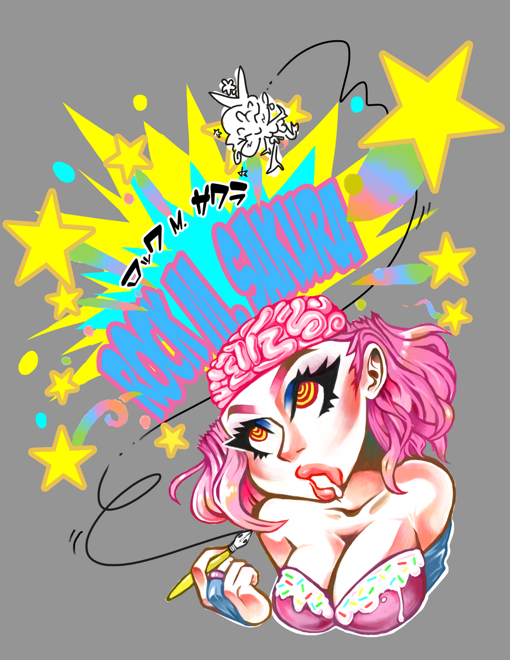 Sakura Shirt  Flat Doodle by blueyoshimenace