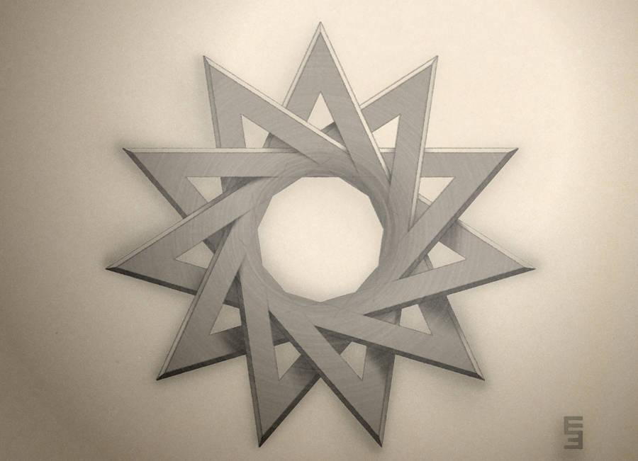 Hendecagram - Tattoo Design by EisenFeuer
