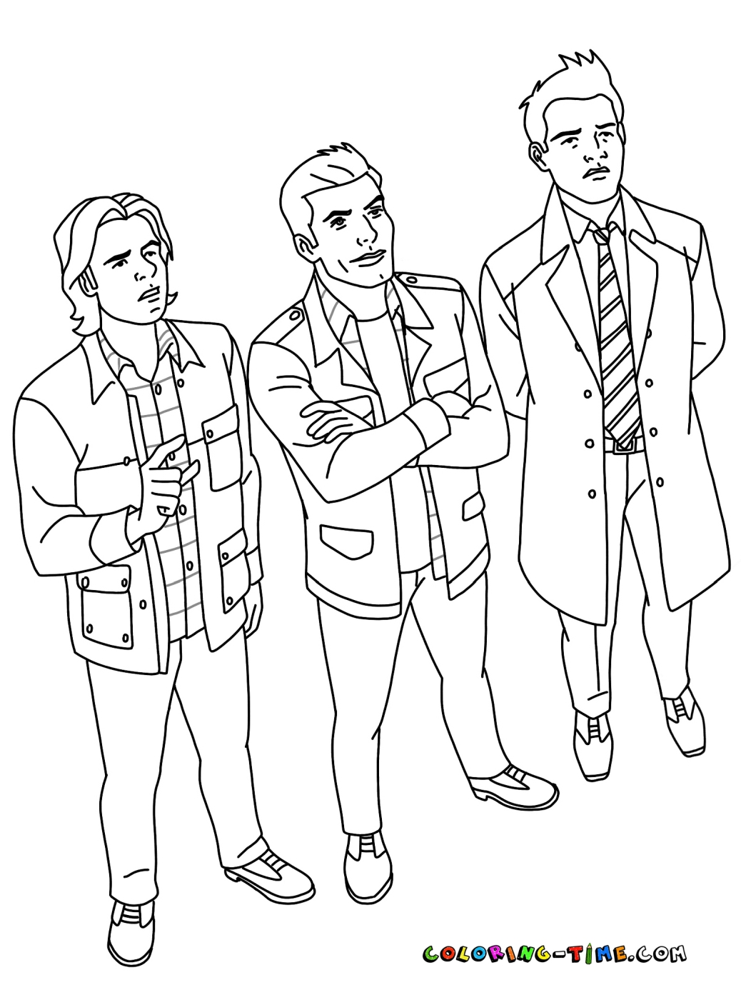 Supernatural Coloring Pages By Klusek1