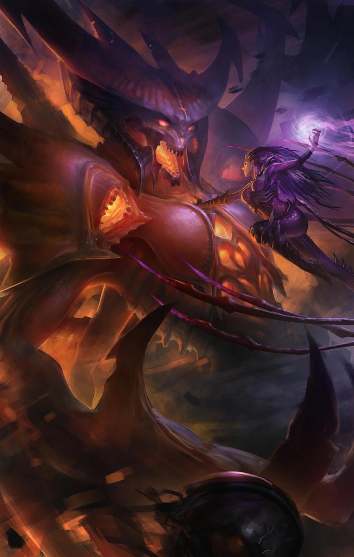 Heroes of the storm - Kerrigan vs Diablo by Zen-Is
