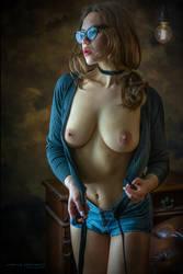 ~nerdy blue~ by creativephotoworks