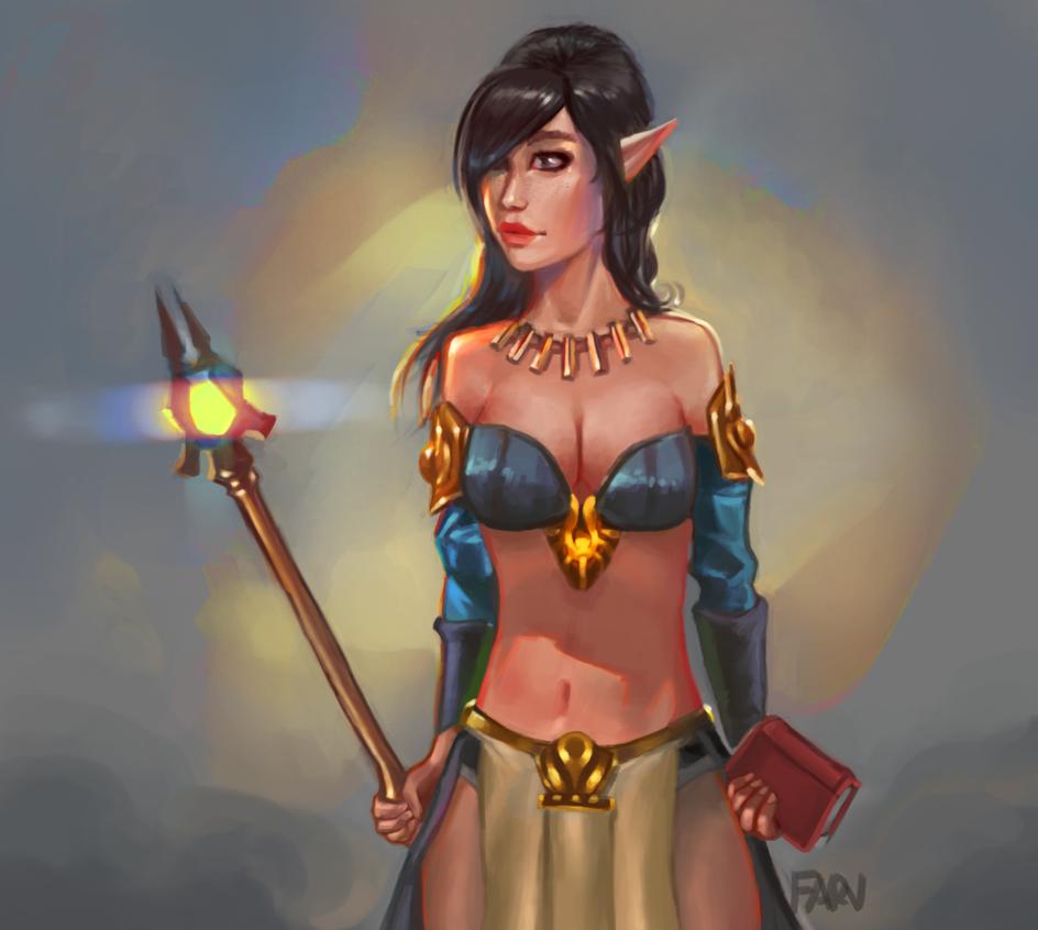 Elf Sorceress by farv