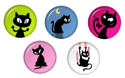 kittypuss pins III by kittypuss