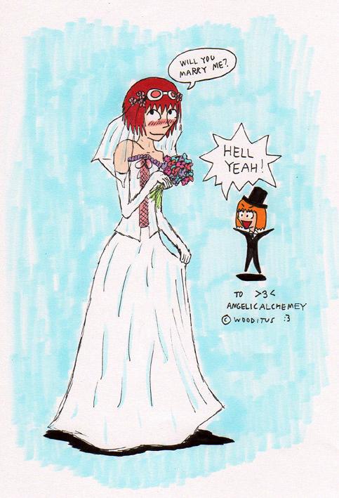 Art trade: Wedding dress Matt by wooditus on DeviantArt