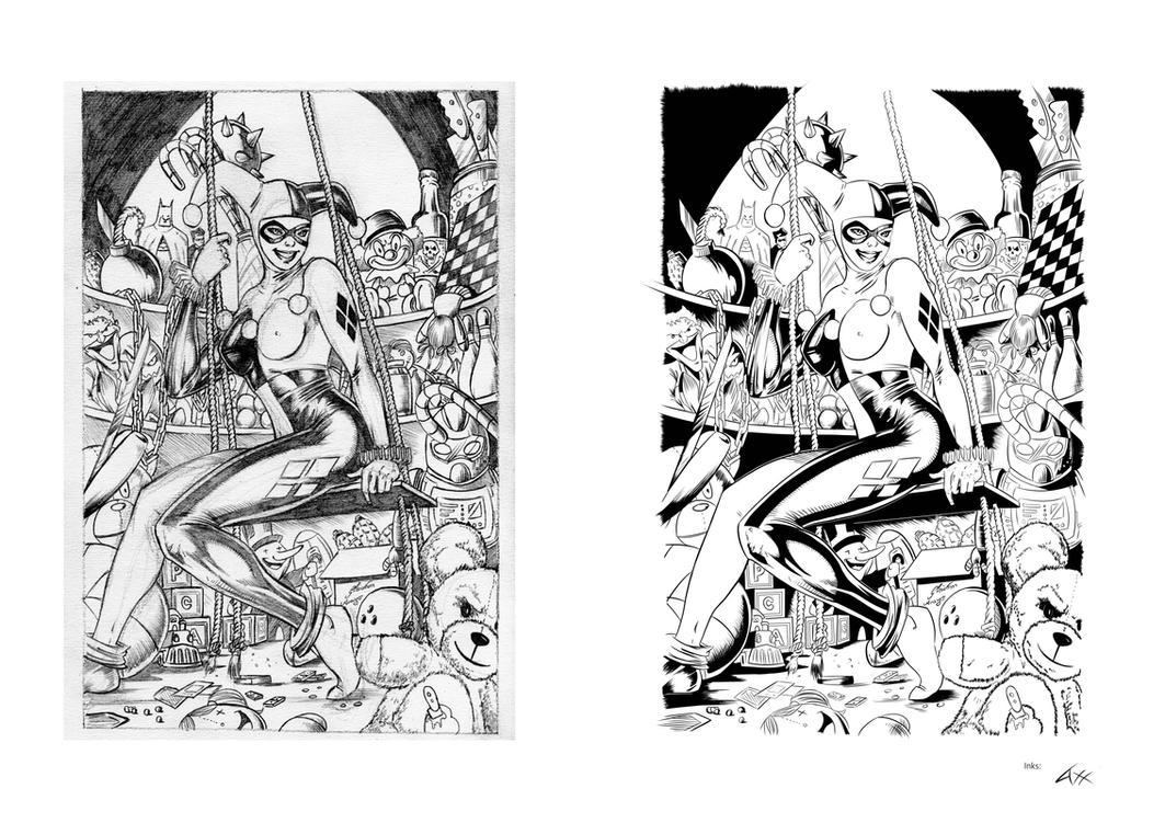 Harley Quinn INk. by axelsalmeron