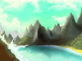 landscape wip maybe by AngelicMoonSushi