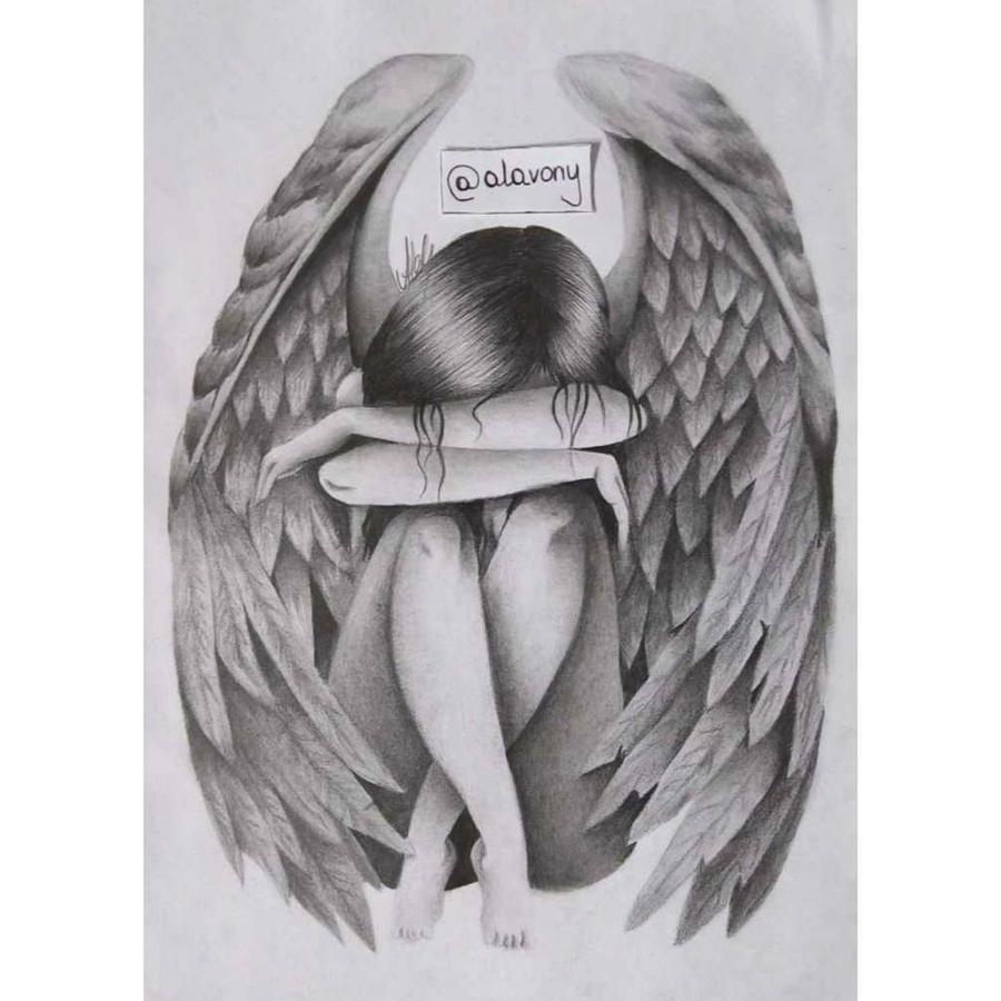 depressed angel drawings - photo #19