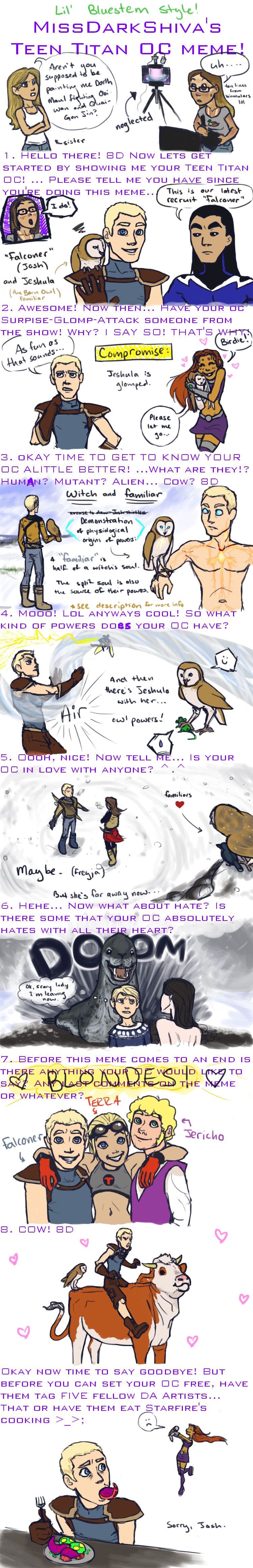 TTOC Meme: Falconer by LilBluestem