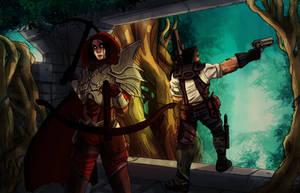 Raynor and Demonhunter by Harmaasusi