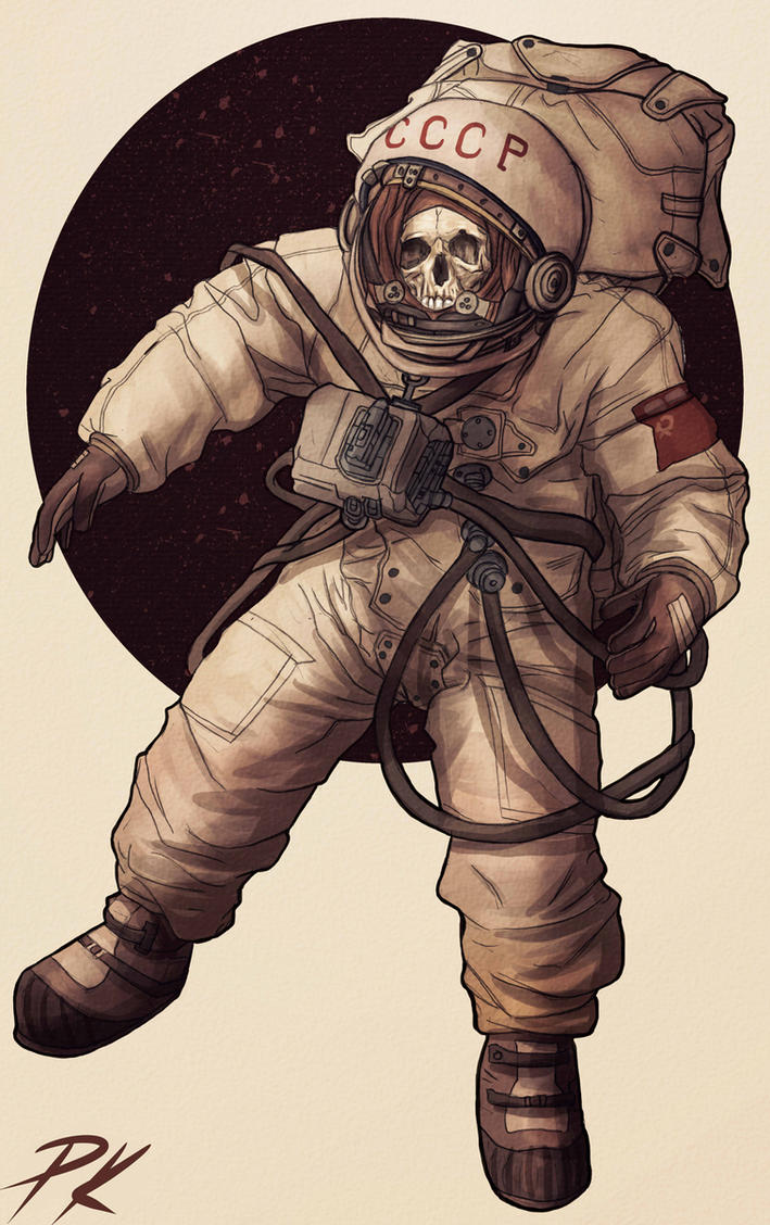 Lost cosmonaut by Harmaasusi