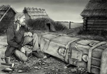 Slavic Zbruch Idol by IlmarinenKowal