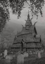 Borgund stavkirke by IlmarinenKowal