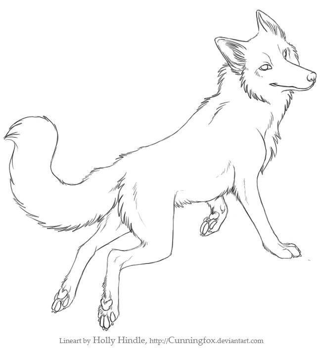 Free Fox lineart by Bear-hybrid