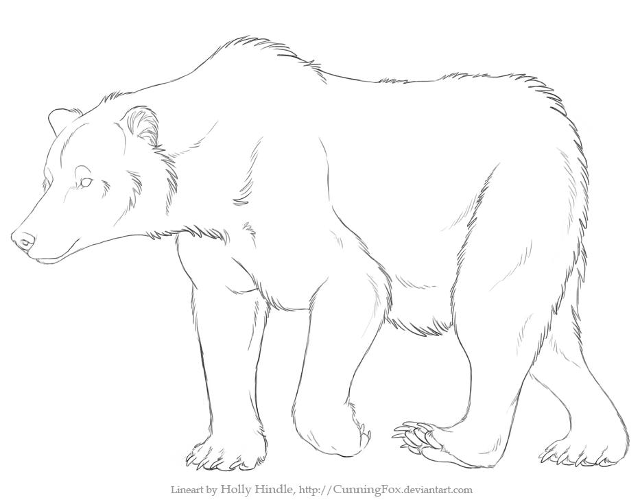 free bear lineart by bear hybrid on deviantart rh deviantart com bear line art teddy bear line art