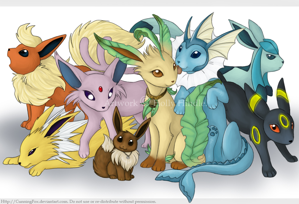 Eevee and Co. by CunningFox
