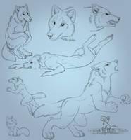 Kins werewolf sketchpage by Bear-hybrid