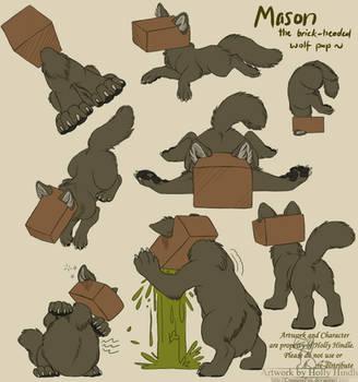 Mason the brick headed wolfpup by Bear-hybrid