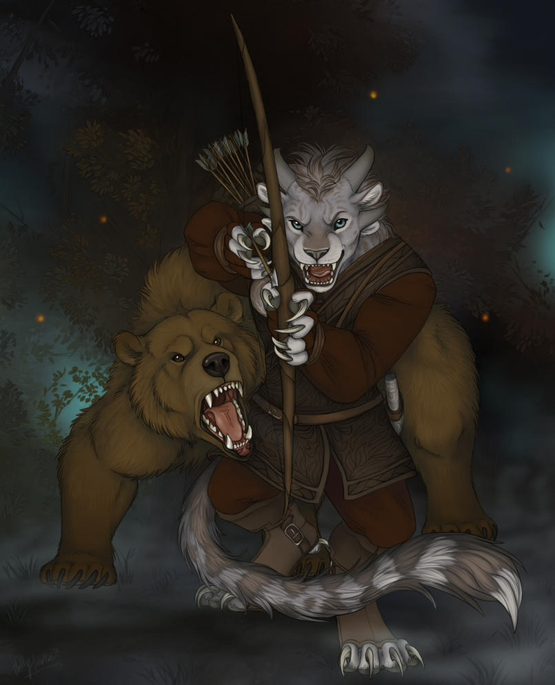 A Charr and her Brother by CunningFox