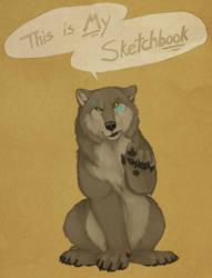 This is MY sketchbook by Bear-hybrid