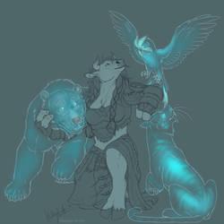 Spirit beasts by Bear-hybrid