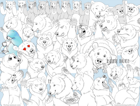 The Bear Minimum telegram sticker pack!