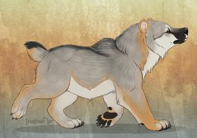 Vulpine wolfbear by Bear-hybrid