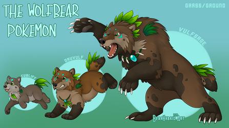 The Wolfbear Pokemon by Bear-hybrid