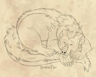 Sleepy Dragonburr by Bear-hybrid