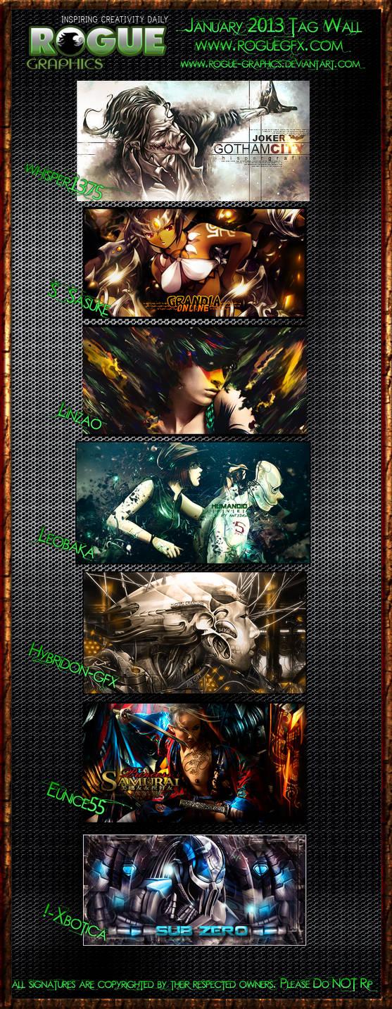 Rogue Graphics January 2013 Tagwall