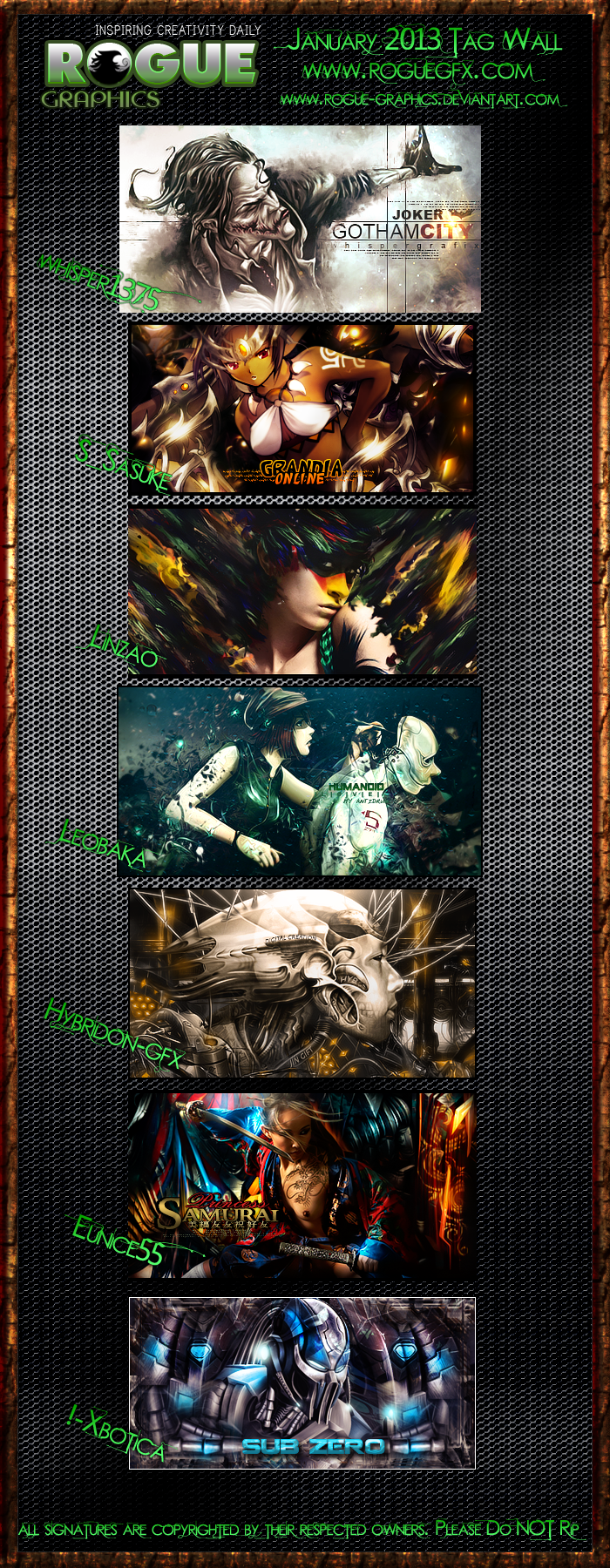 Rogue Graphics January 2013 Tagwall by xKeepher