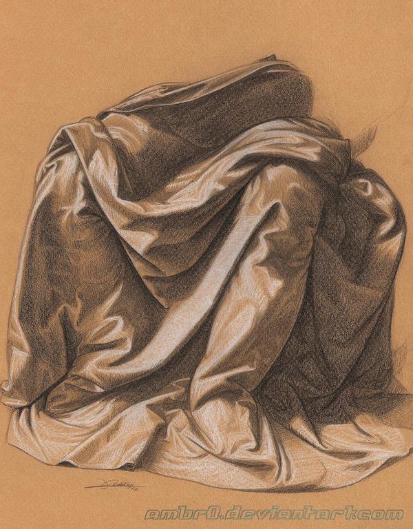 Drapery Study da Vinci by AmBr0