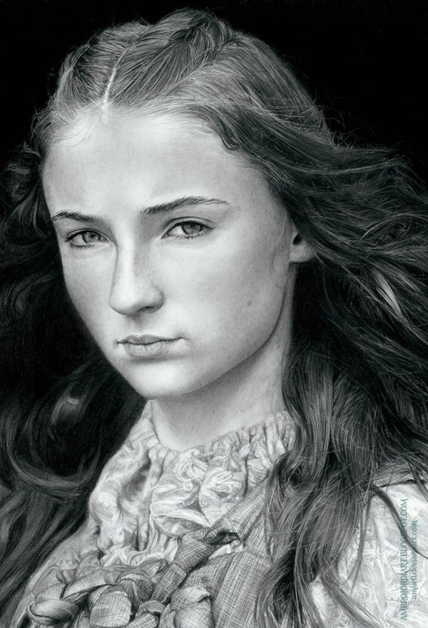 Sansa Stark (Game of Thrones) by AmBr0