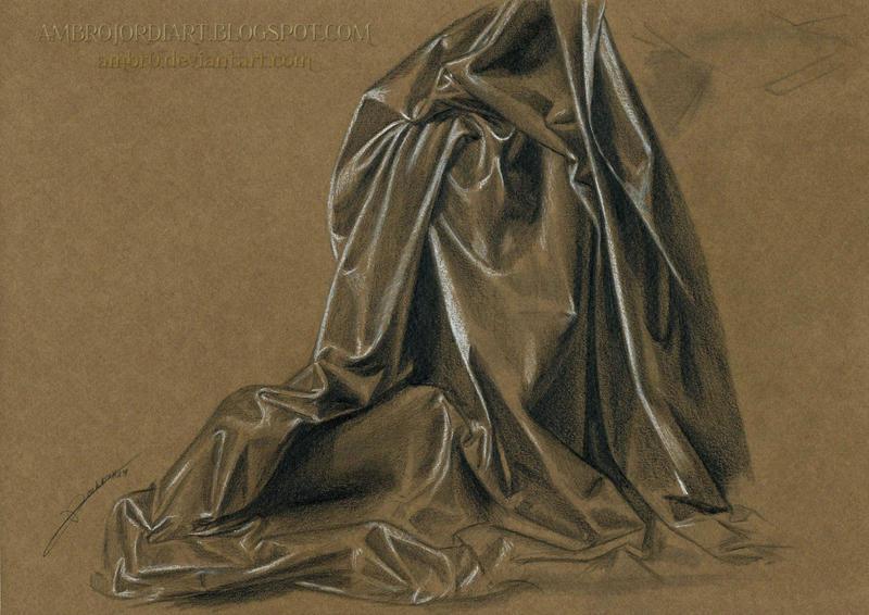 Drapery Study da Vinci 2 by AmBr0