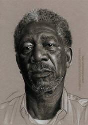 Morgan Freeman by AmBr0