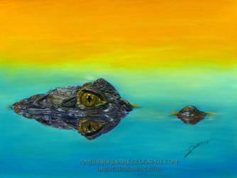 Crocodile Drawing by AmBr0