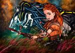 Aloy and Strider - Horizon Zero Dawn by AmBr0