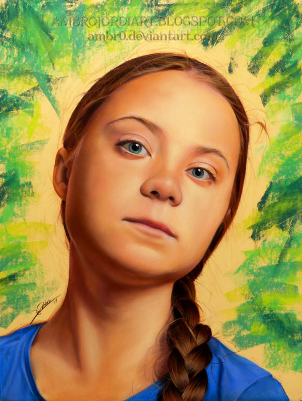 Greta Thunberg Drawing by AmBr0